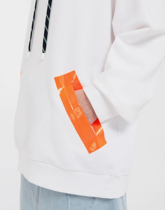 MAISON MARGIELA Thermo-fused tape jersey sweatshirt Hooded sweatshirt [*** pickupInStoreShipping_info ***] b