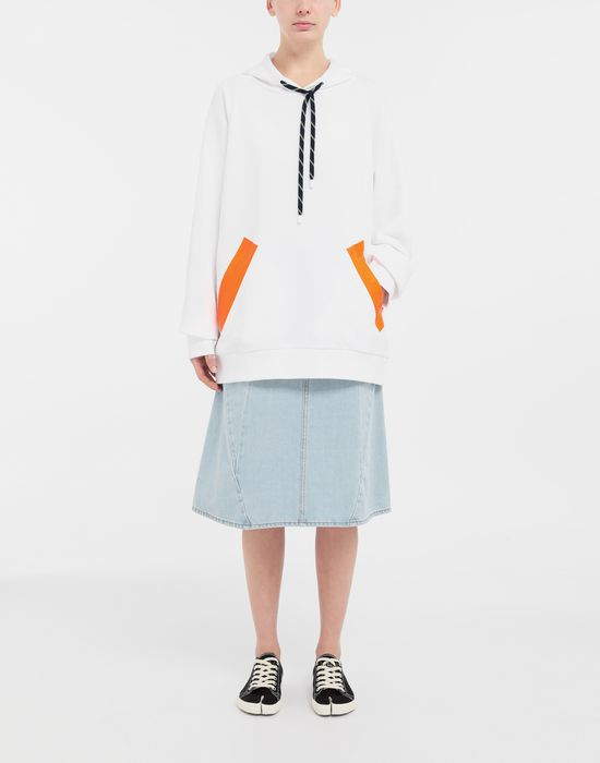 MAISON MARGIELA Thermo-fused tape jersey sweatshirt Hooded sweatshirt [*** pickupInStoreShipping_info ***] d