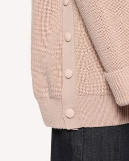 REDValentino Press stud detail wool jumper