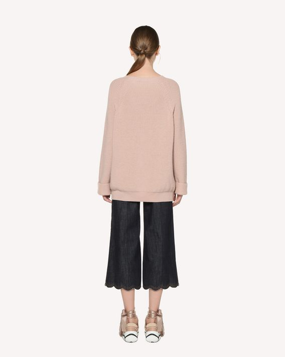 REDValentino Snap button detail wool sweater