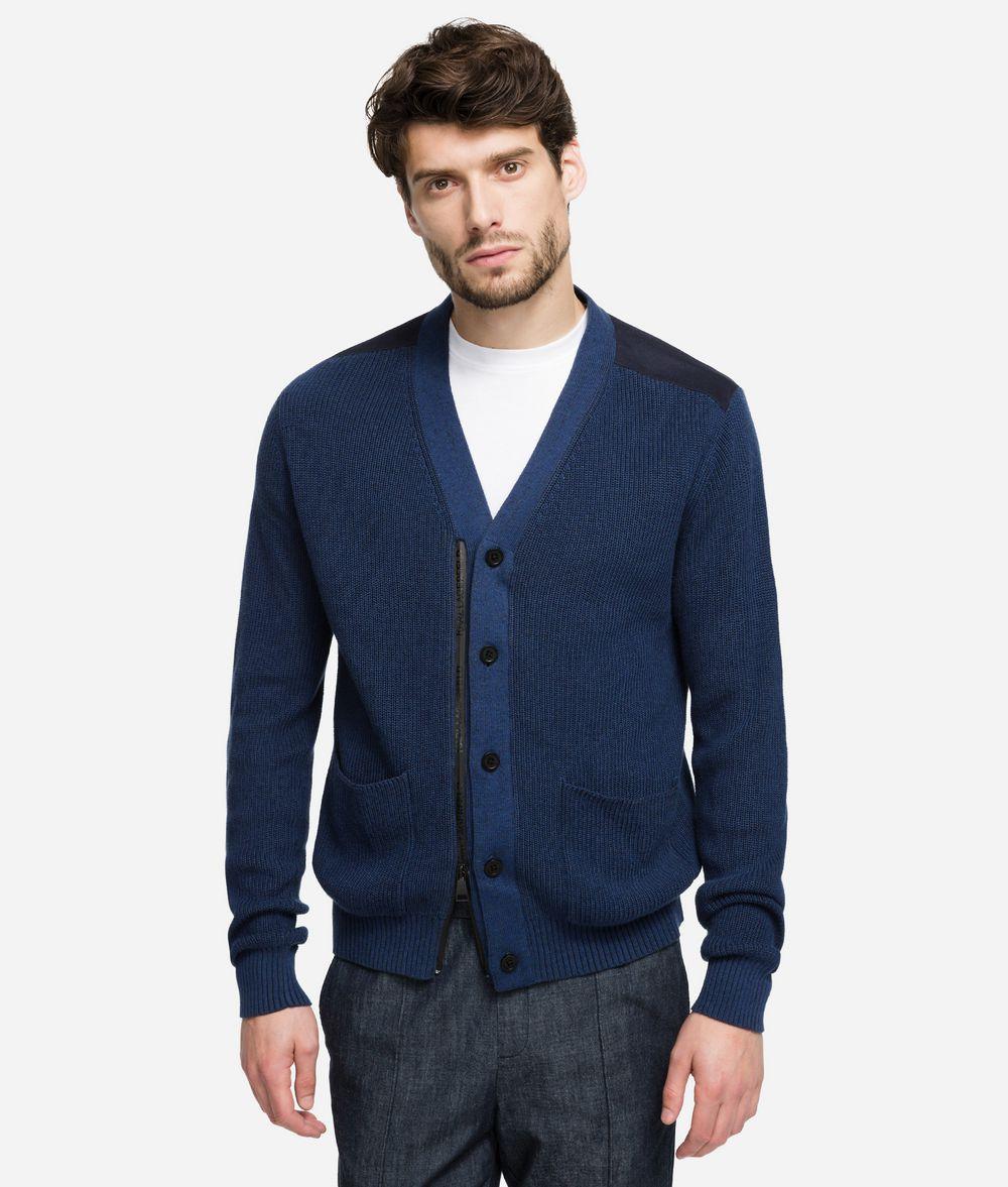 KARL LAGERFELD Zip-Front Cardigan Sweater Man f