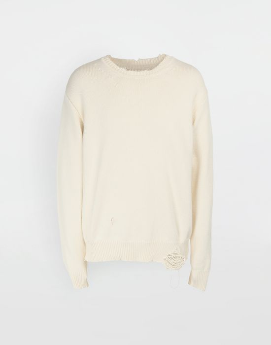 MAISON MARGIELA Destroyed knit pullover Crewneck sweater [*** pickupInStoreShippingNotGuaranteed_info ***] f