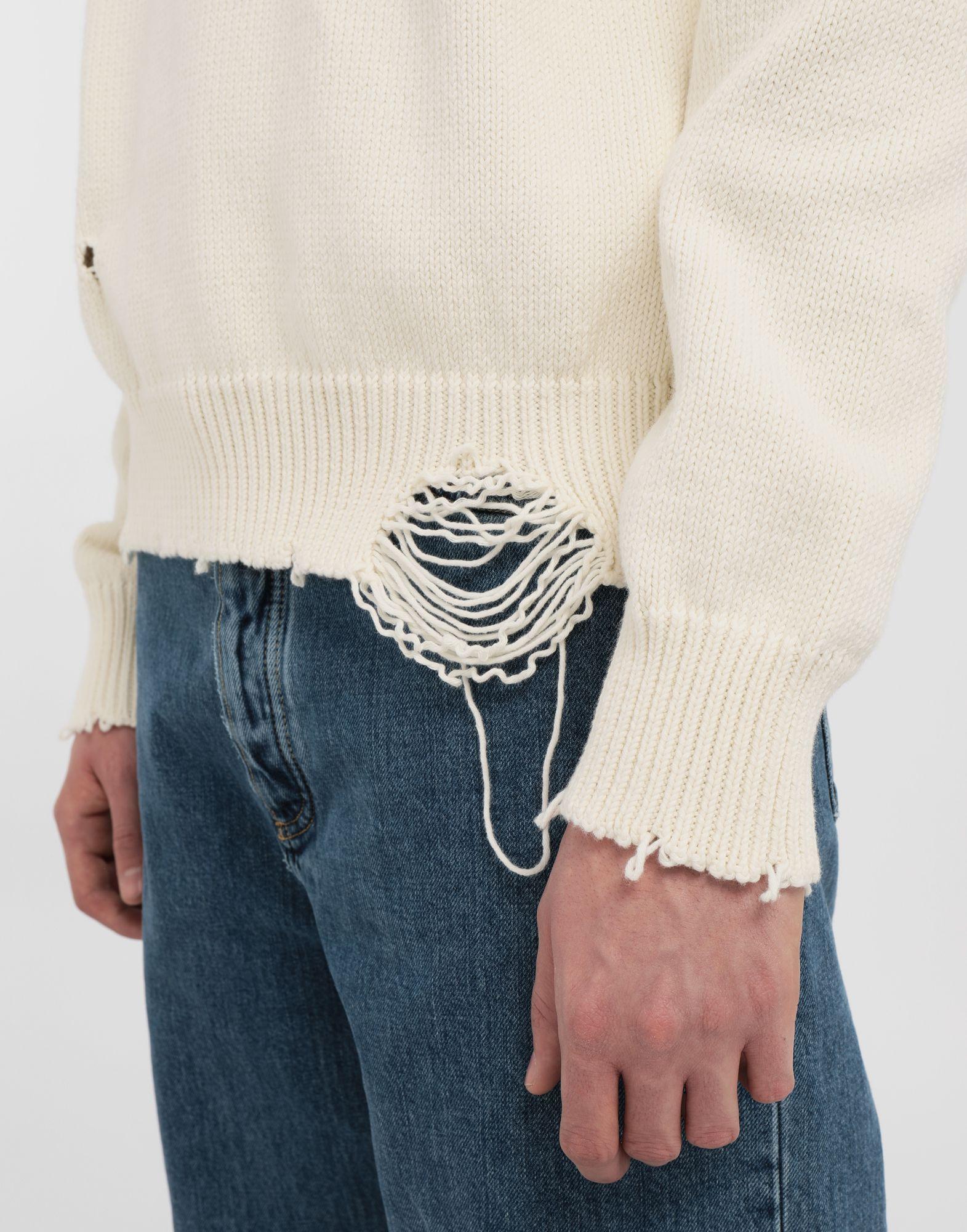 MAISON MARGIELA Destroyed knit pullover Crewneck sweater Man b