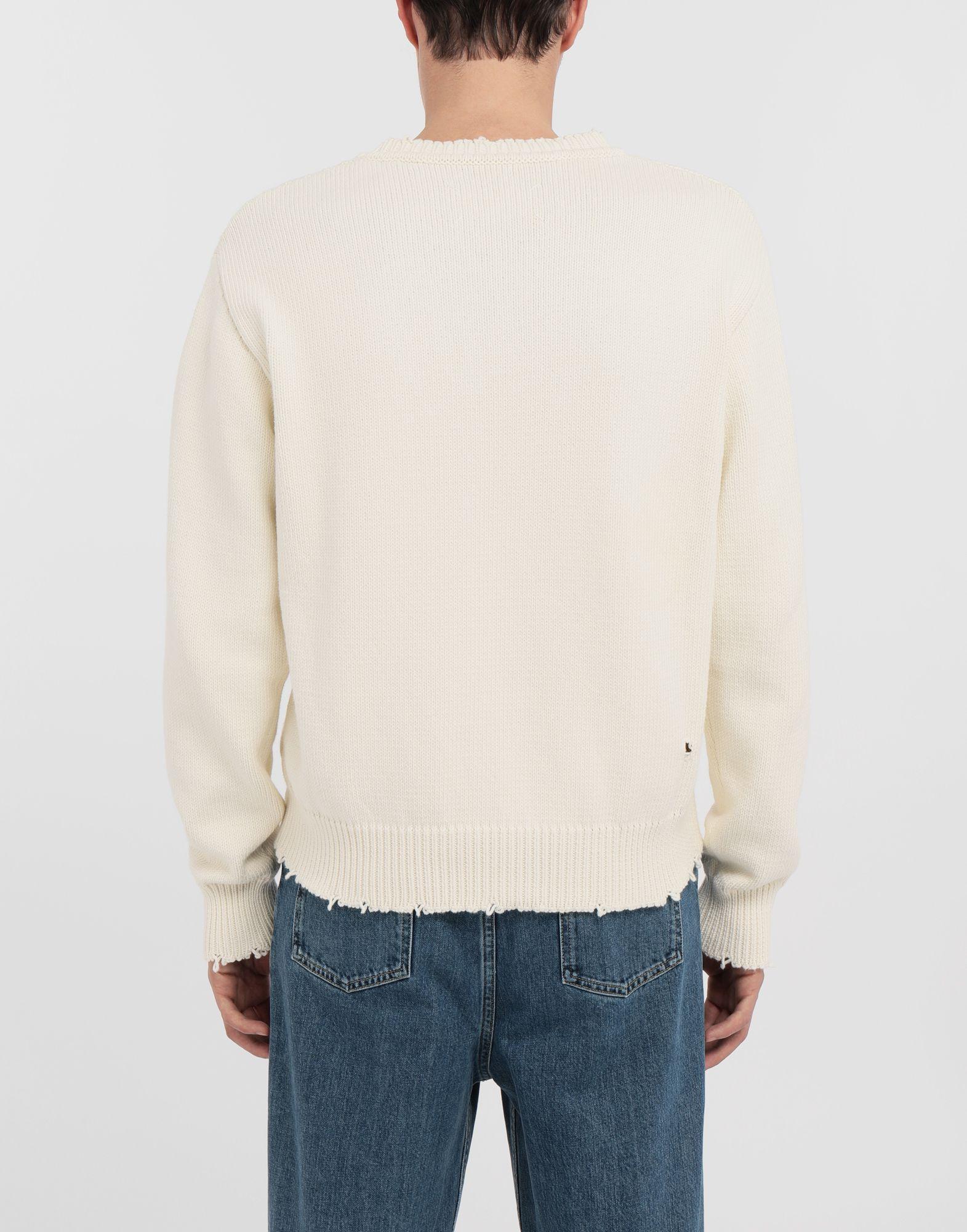 MAISON MARGIELA Destroyed knit pullover Crewneck sweater Man e