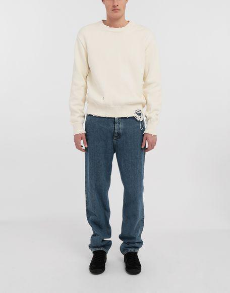 MAISON MARGIELA Destroyed knit pullover Crewneck sweater Man d