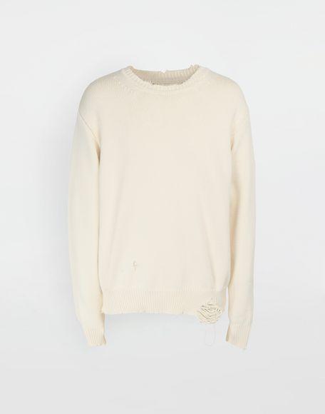 MAISON MARGIELA Destroyed knit pullover Crewneck sweater Man f