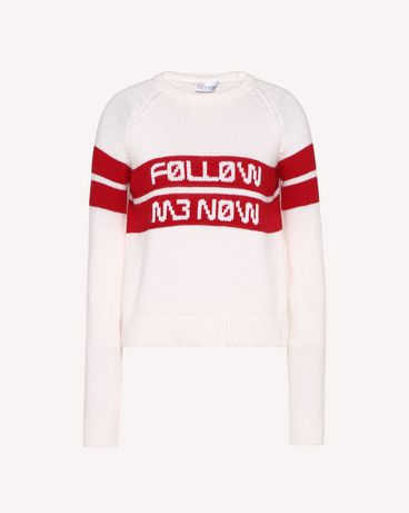 REDValentino RR3KCA01DTM 031 Knit Sweater Woman a