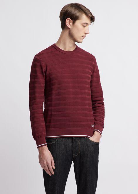 Striped, pure cotton sweater