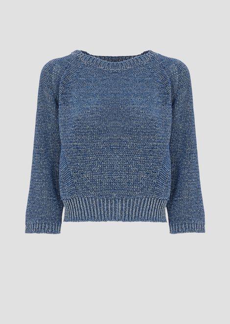 セーター メリヤス裏編み ラグランスリーブ