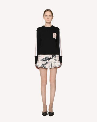 REDValentino Wool sweater with embroidered patches
