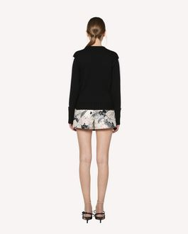 REDValentino Wool jumper with embroidered patches