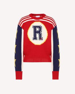 REDValentino Wool jumper with graphic inlay