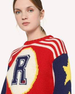 REDValentino Wool sweater with graphic inlay