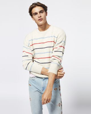 ISABEL MARANT LONG SLEEVE JUMPER Man OBLI jumper r
