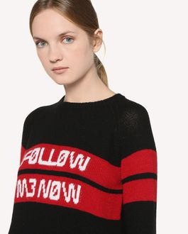 REDValentino Pull en laine avec motif jacquard «Follow Me Now»