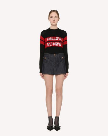 REDValentino RR3KCA01DTM 0NO Knit Sweater Woman f
