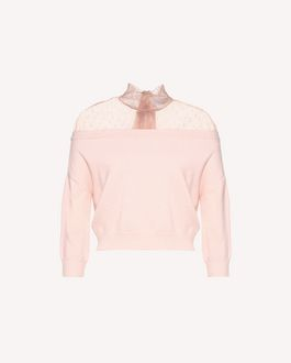 REDValentino Point d'Esprit tulle wool sweater