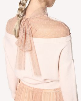 REDValentino Point d'Esprit tulle wool jumper