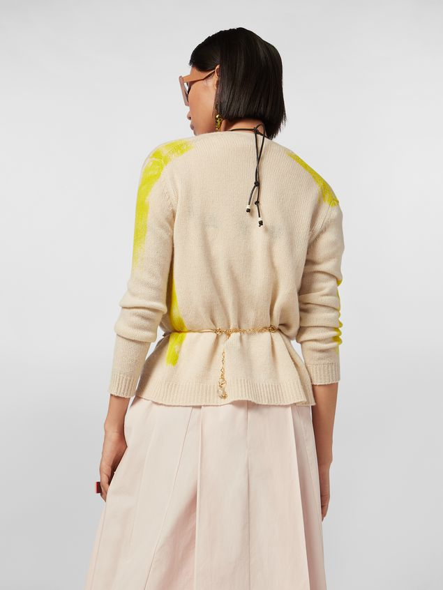 Marni Cardigan in painted cashmere Woman