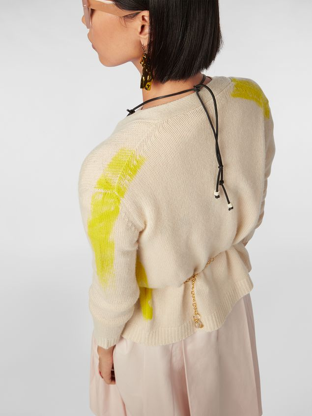 Marni Cardigan in painted cashmere Woman - 4