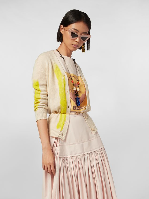 Marni Cardigan in painted cashmere Woman - 1