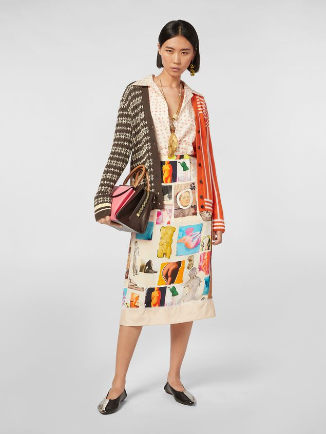 Marni Cardigan in cotton and wool jacquard Woman - 5