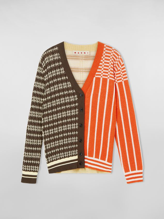 Marni Cardigan in cotton and wool jacquard Woman - 2