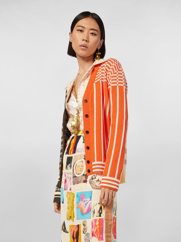 Marni Cardigan in cotton and wool jacquard Woman - 1