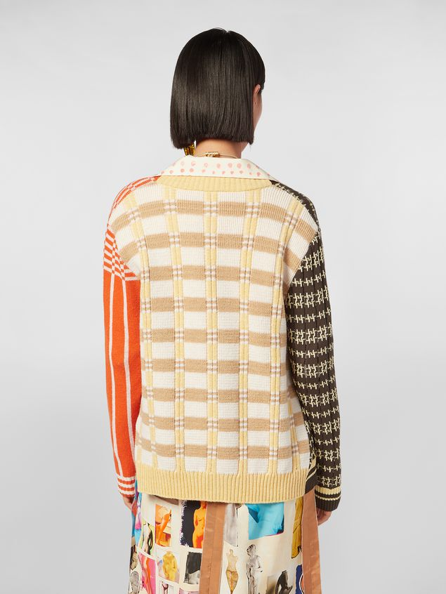 Marni Cardigan in cotton and wool jacquard Woman - 3