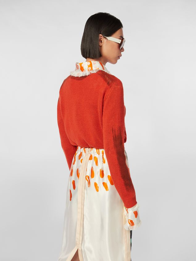 Marni Crewneck knit in painted cashmere Woman