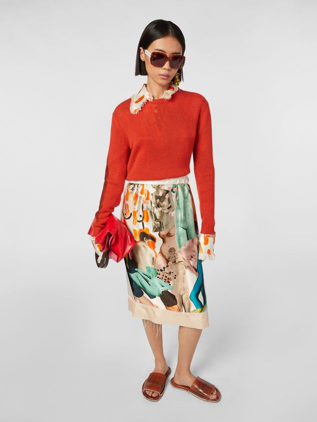Marni Crewneck knit in painted cashmere Woman - 5