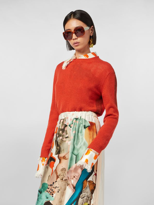 Marni Crewneck knit in painted cashmere Woman - 1