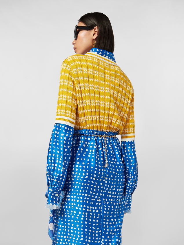 Marni Crewneck knit in cotton and wool jacquard Woman