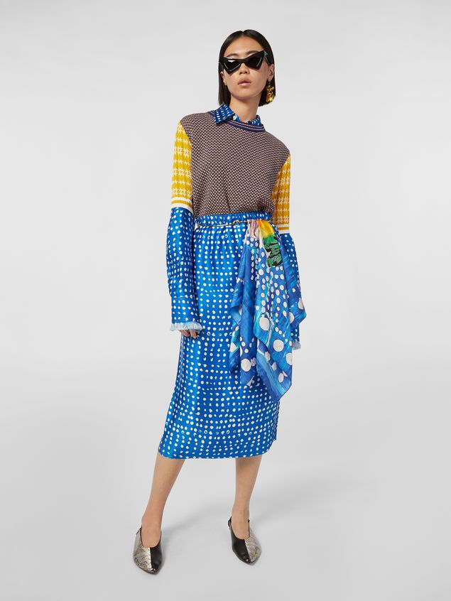 Marni Crewneck knit in cotton and wool jacquard Woman - 5