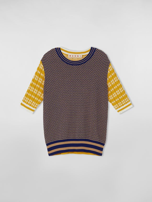 Marni Crewneck knit in cotton and wool jacquard Woman - 2