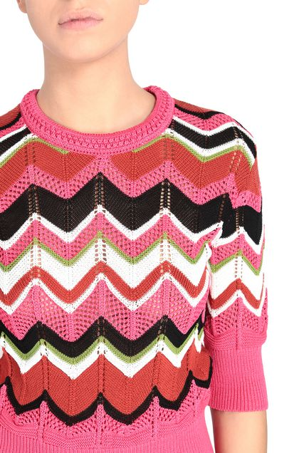 M MISSONI Crew-neck Fuchsia Woman - Front