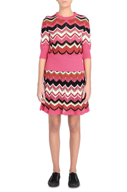 M MISSONI Crew-neck Fuchsia Woman - Back
