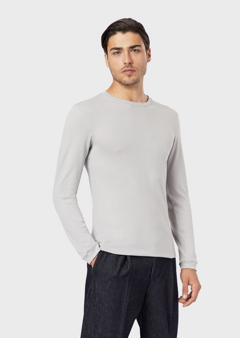 Knit in pure cashmere interlock