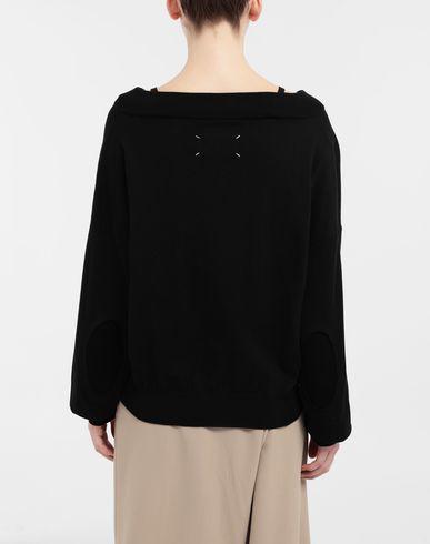 KNITWEAR NewBasic jersey knit pullover Black