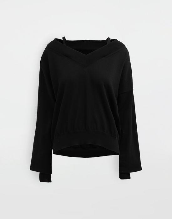 MAISON MARGIELA NewBasic jersey knit pullover V-neck [*** pickupInStoreShipping_info ***] f