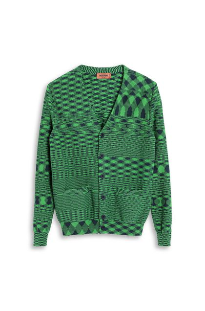 MISSONI Cardigan Green Man - Back
