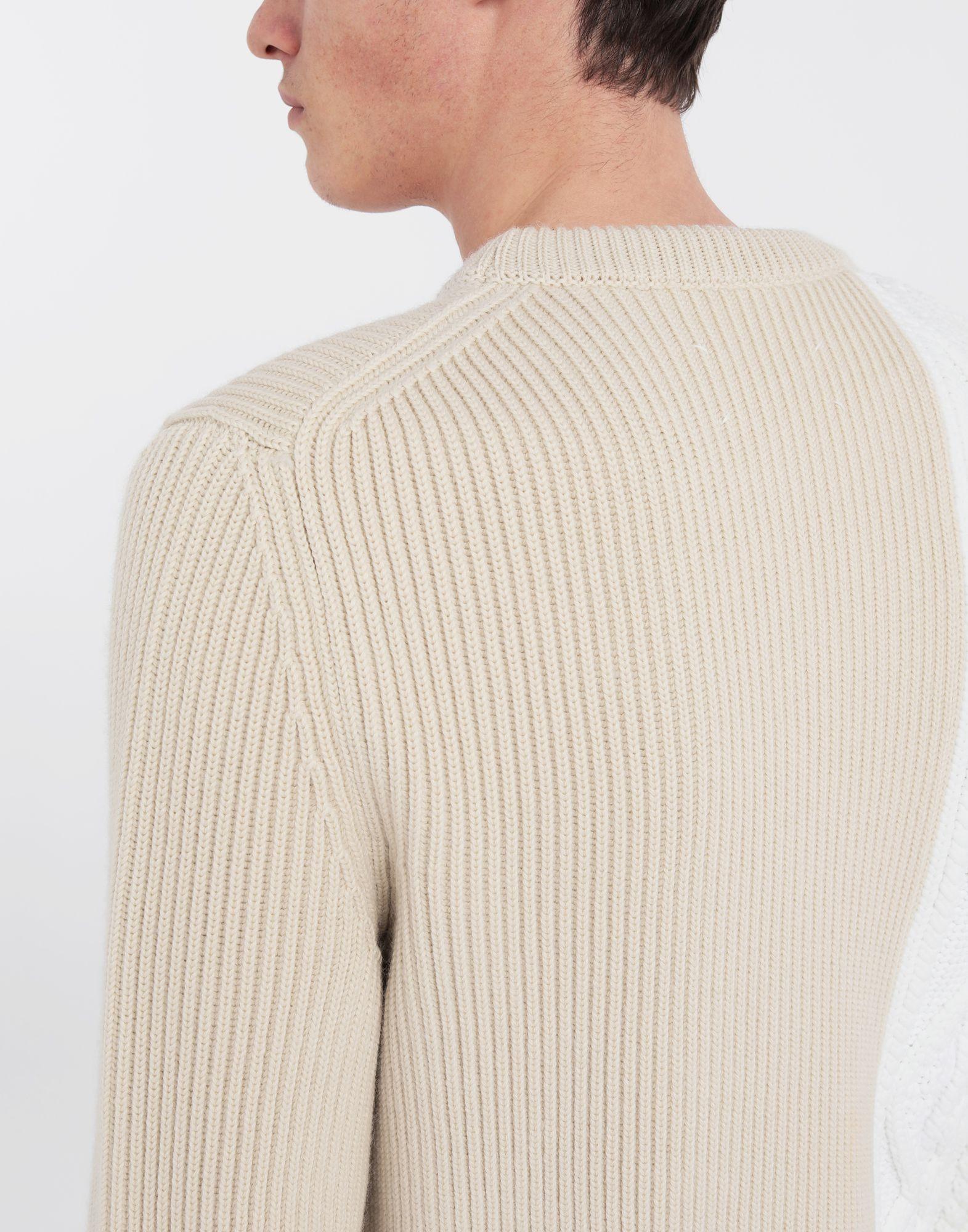 MAISON MARGIELA Spliced knit pullover Crewneck sweater Man b