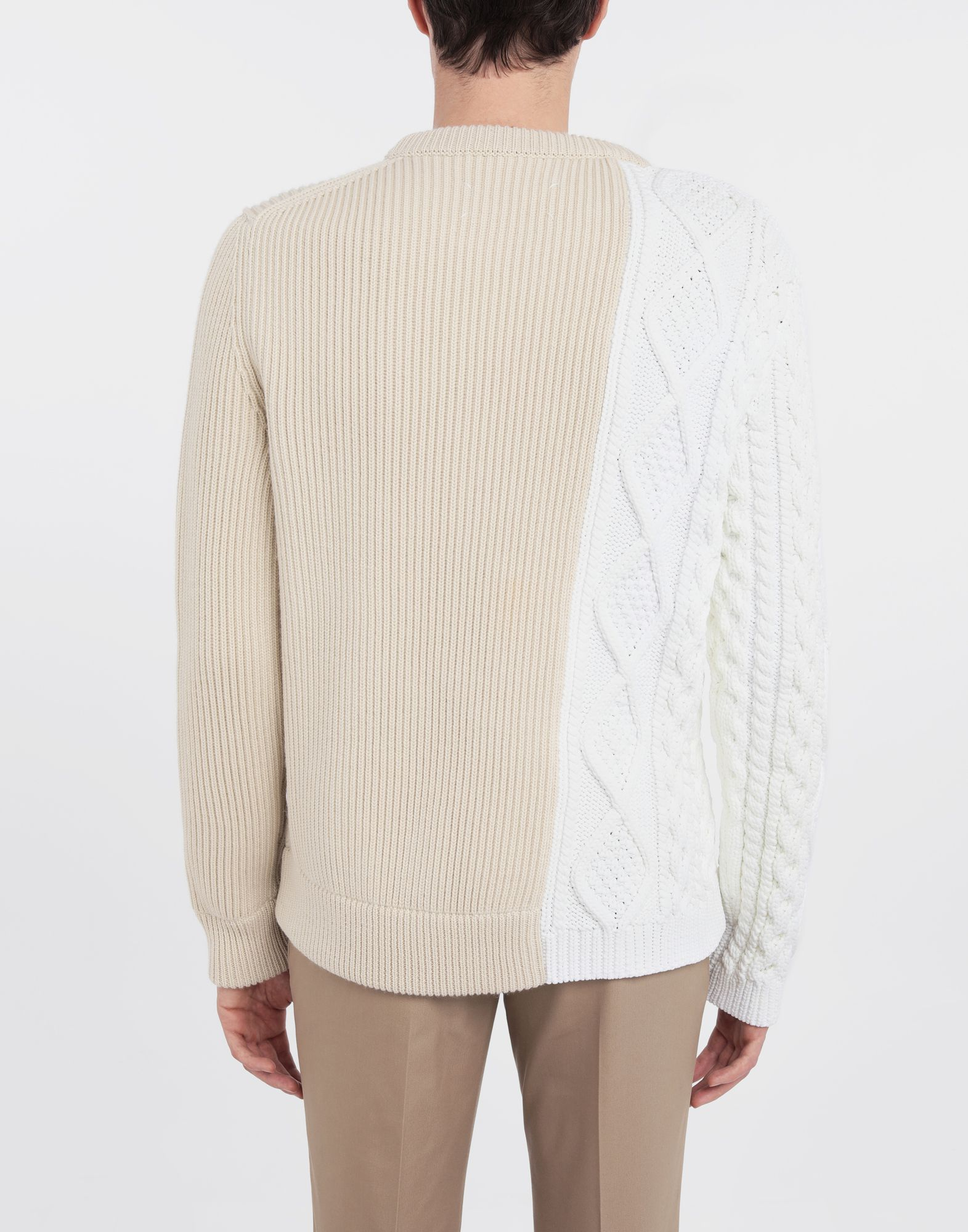 MAISON MARGIELA Spliced knit pullover Crewneck sweater Man e