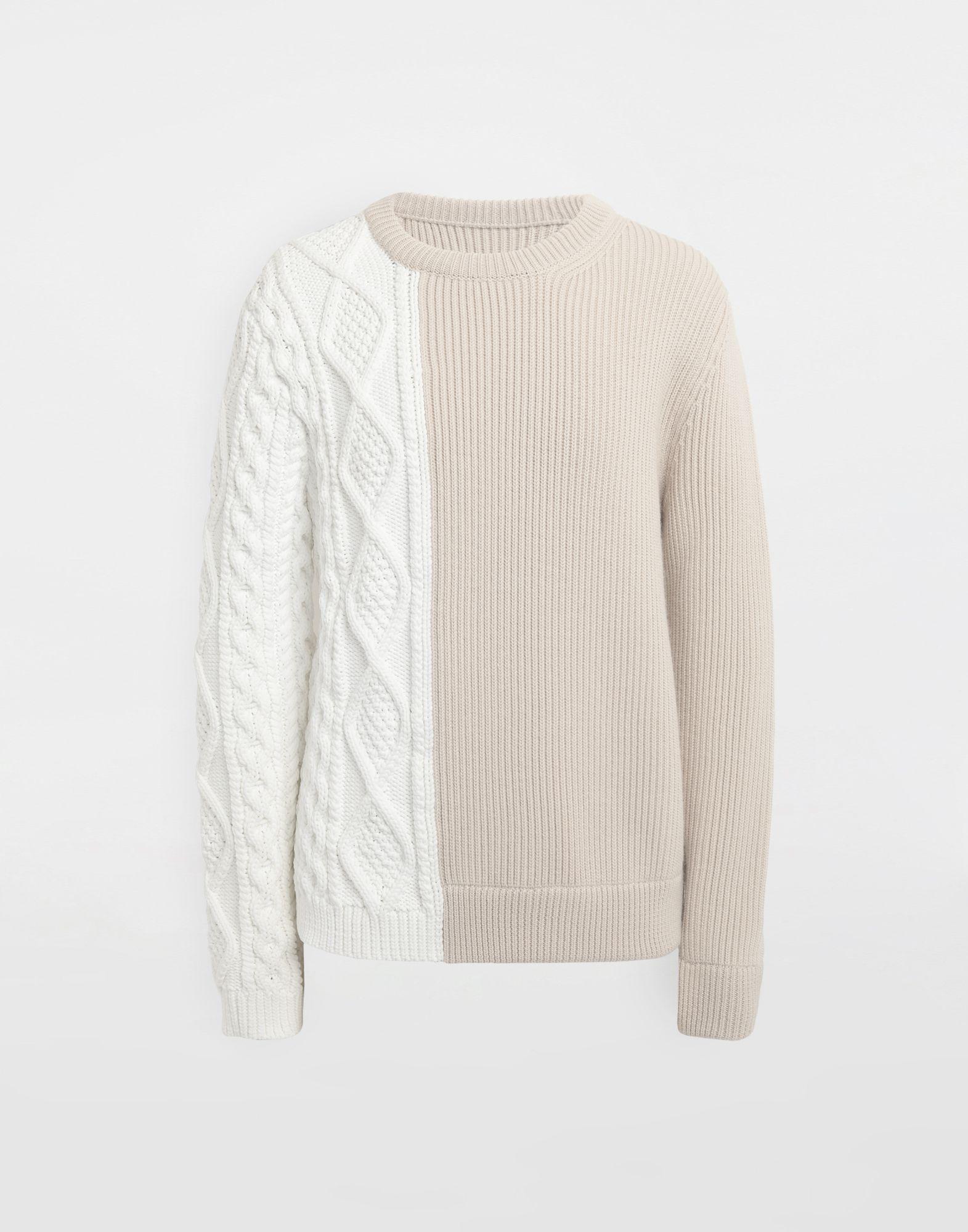 MAISON MARGIELA Spliced knit pullover Crewneck sweater Man f