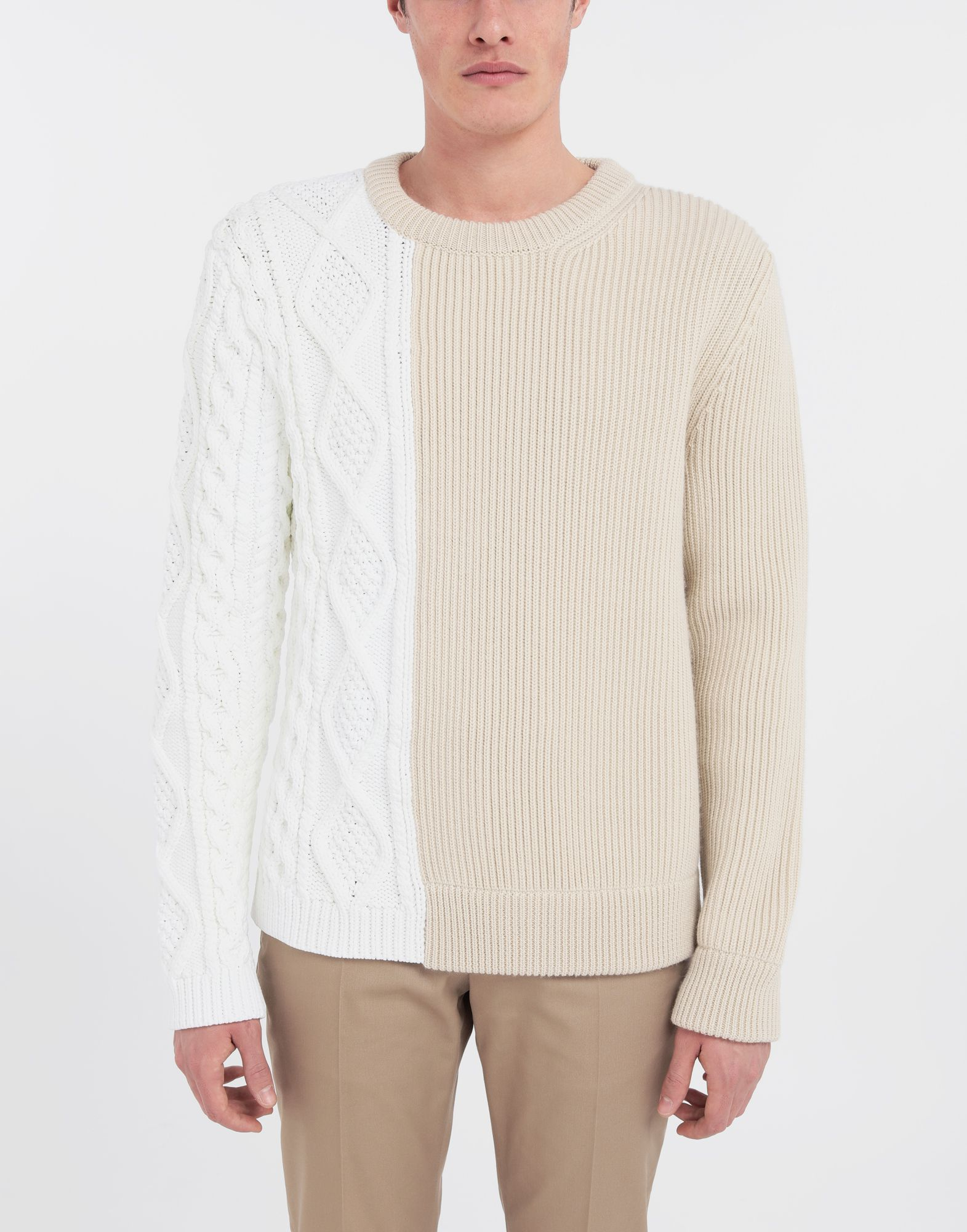 MAISON MARGIELA Spliced knit pullover Crewneck Man r