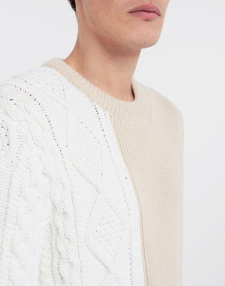 MAISON MARGIELA Spliced knit pullover Crewneck sweater Man a