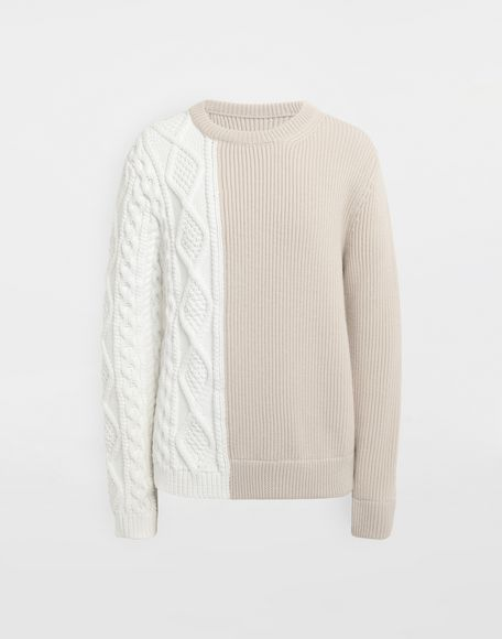 MAISON MARGIELA Spliced knit pullover Crewneck Man f