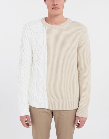 MAISON MARGIELA Spliced knit pullover Crewneck sweater Man r