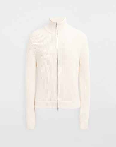 MAISON MARGIELA Zip-embellished knit cardigan Cardigan [*** pickupInStoreShippingNotGuaranteed_info ***] f