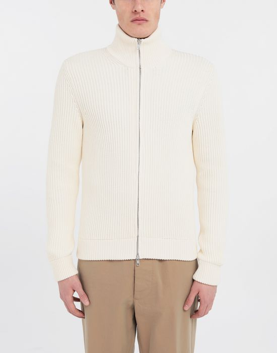 MAISON MARGIELA Zip-embellished knit cardigan Cardigan [*** pickupInStoreShippingNotGuaranteed_info ***] r